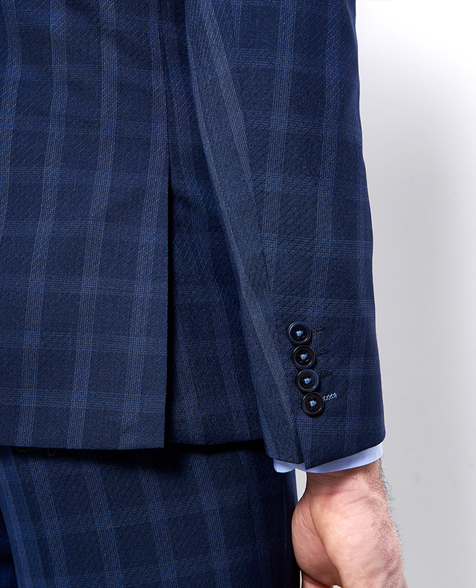 X-Slim Fit Checked Wool-Blend Stretch Mix and Match Suit