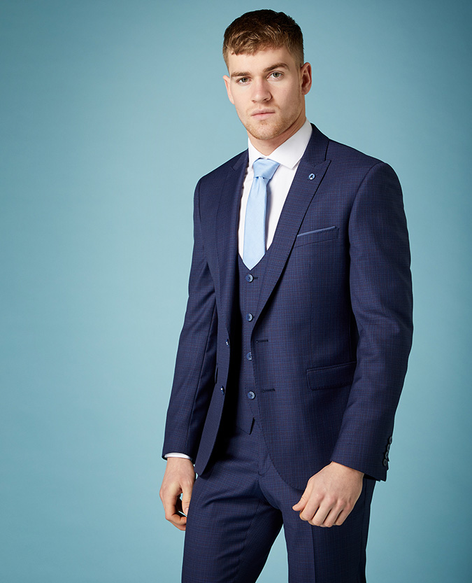 Slim fit Wool-Rich Mix and Match Suit