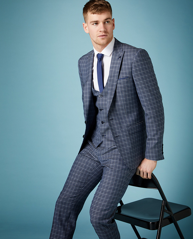 X-Slim Fit Checked Wool-Rich Mix and Match Suit