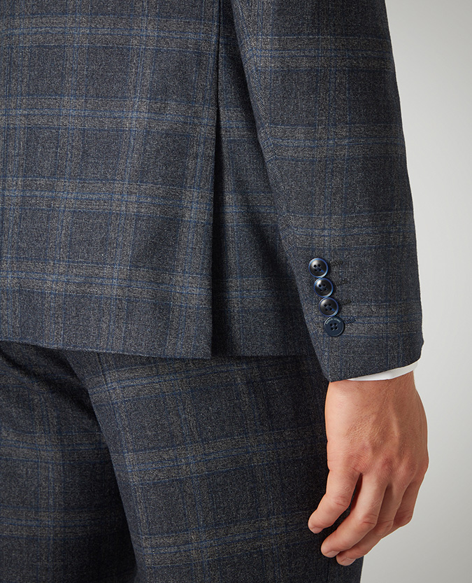 X-Slim Fit Checked Wool-Blend Stretch Mix and Match Suit Jacket
