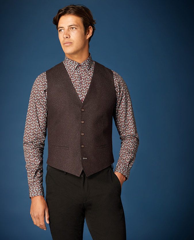 Slim Fit Wool-Rich Casual Suit Waistcoat