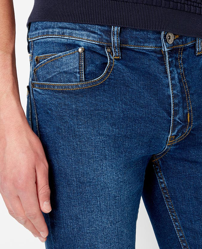 Slim Leg Stretch Denim Jean