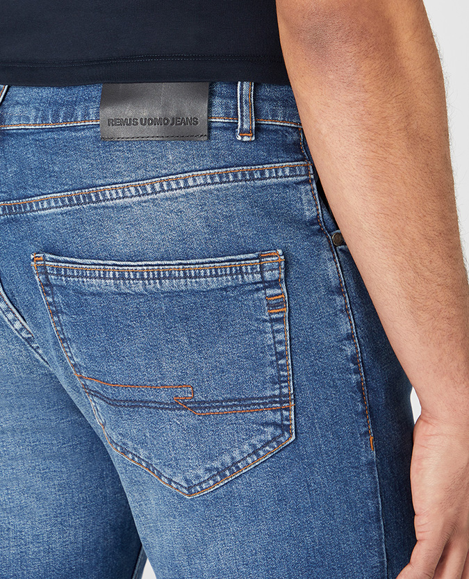 Straight Leg Cotton-Stretch Jean