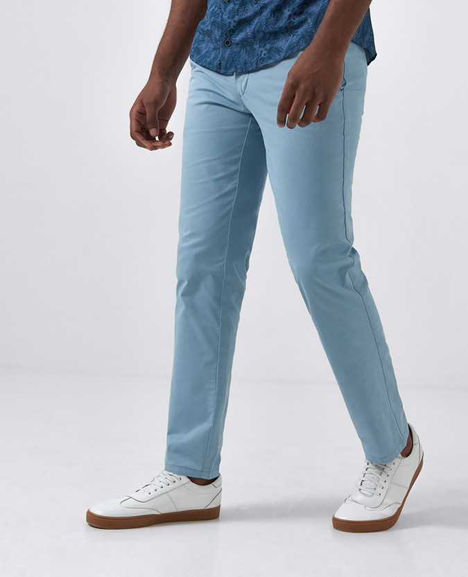 Slim Leg Cotton-Stretch Chino