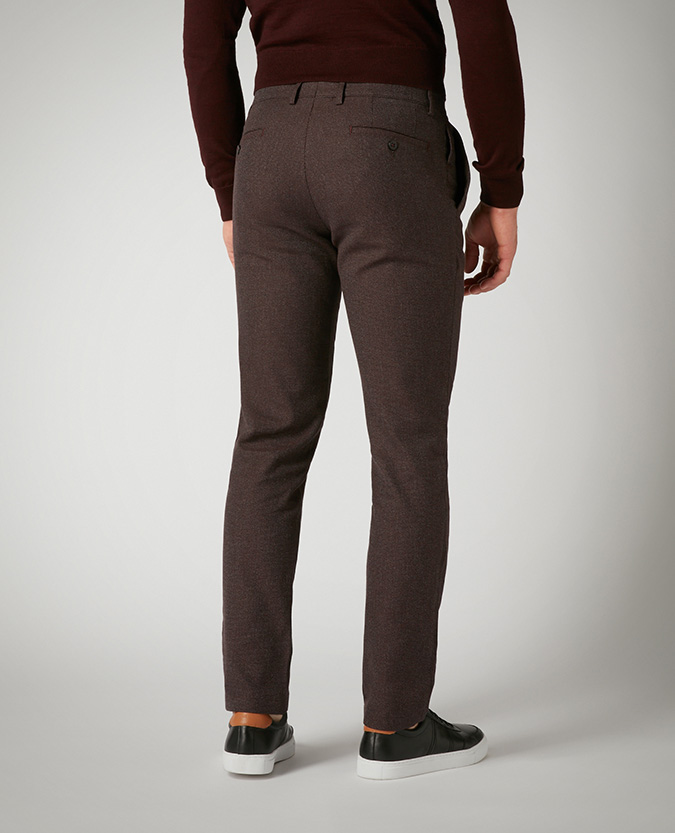 Slim Leg Cotton-Stretch Trousers