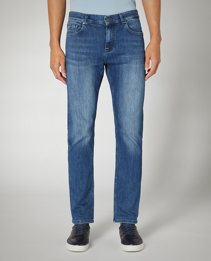 Straight Leg Cotton Power Stretch Jean