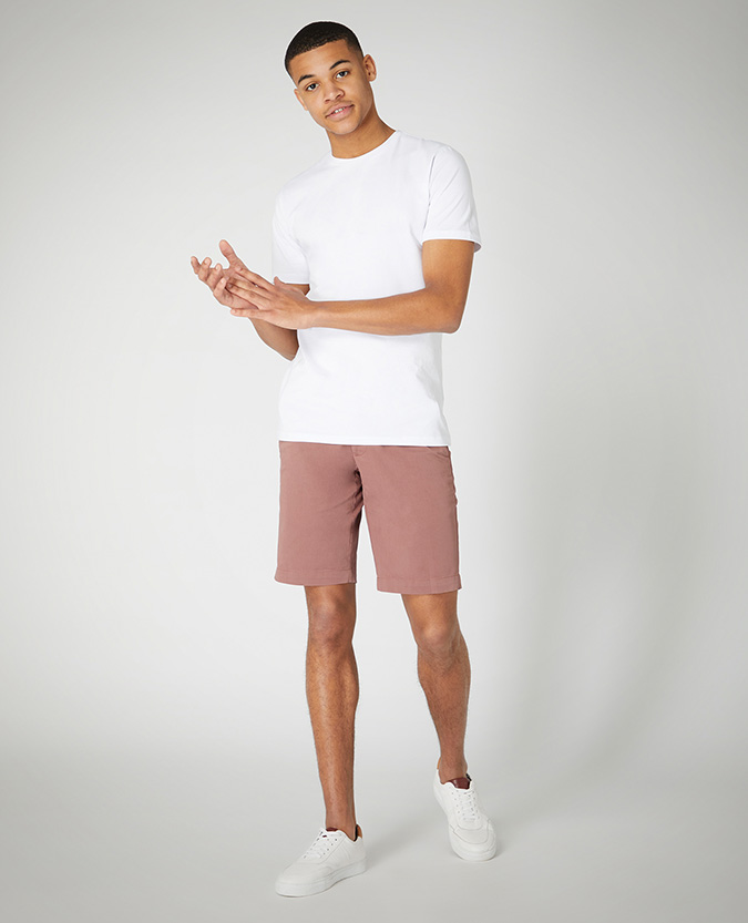 Slim Fit Cotton Stretch Chino Short