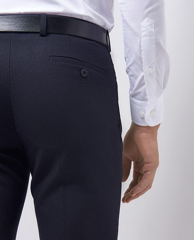 Slim Leg Wool-Rich Double Pleat Trouser