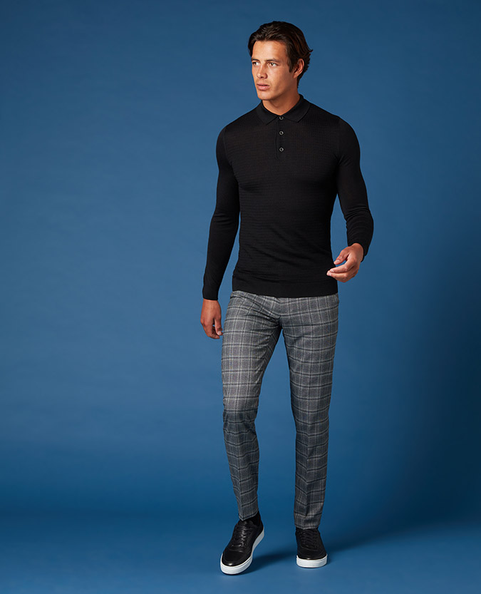 X-Slim Fit Checked Formal Trousers