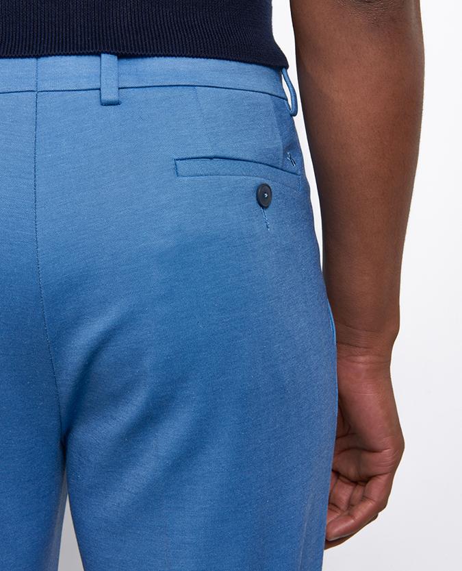 Slim Leg Cotton-Blend Stretch Trouser