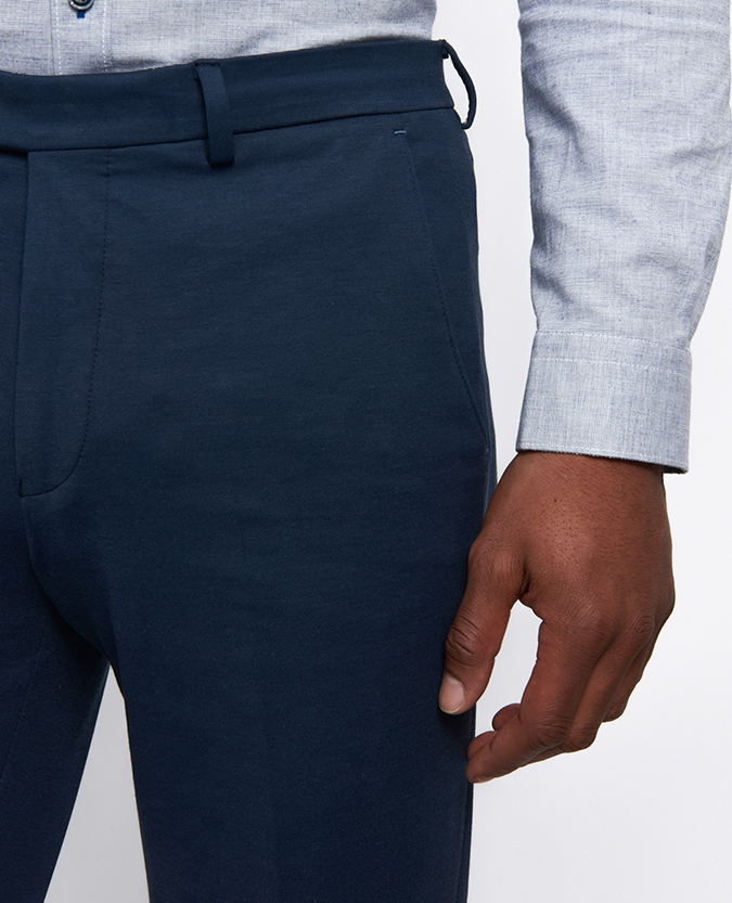 Slim Leg Cotton-Blend Stretch Trouser