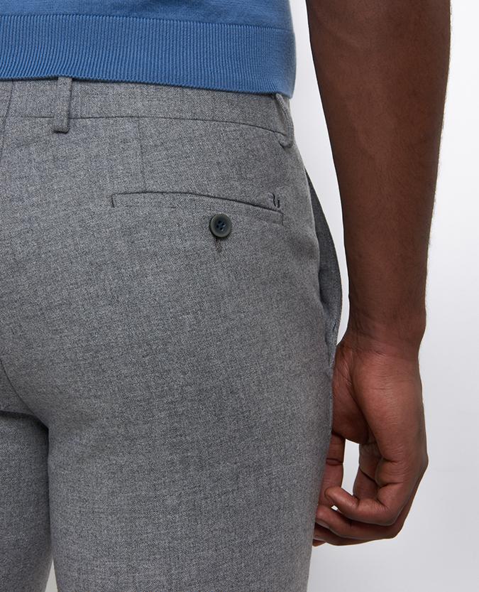 Slim Leg Wool-Blend Trouser