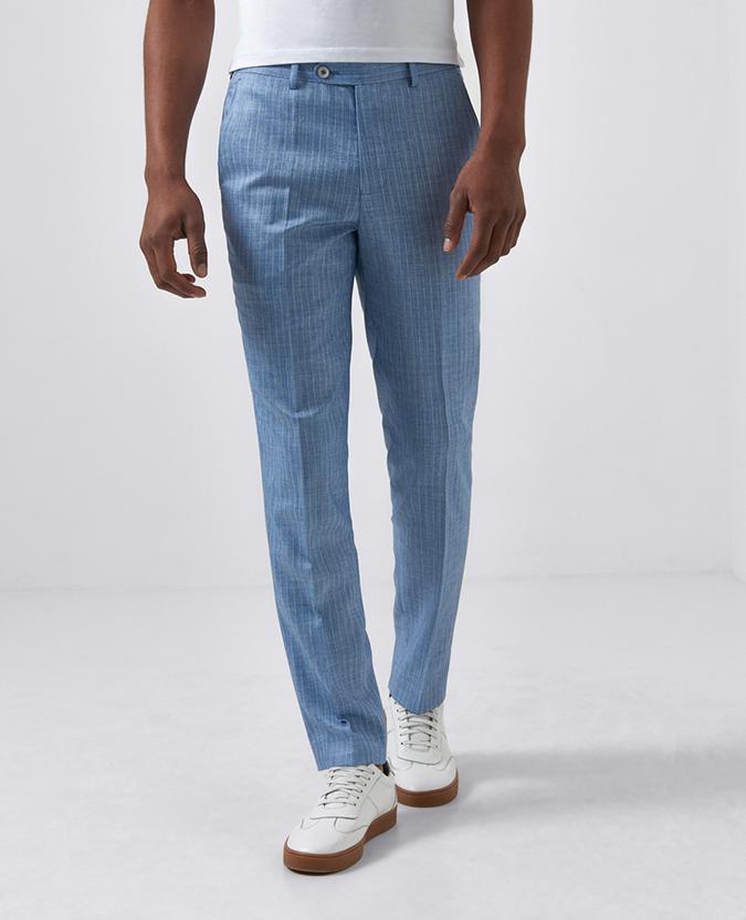 Slim Leg Pinstripe Stretch Trouser