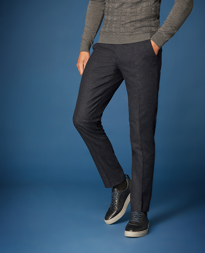 Slim Leg Wool-Rich Casual Suit Trousers
