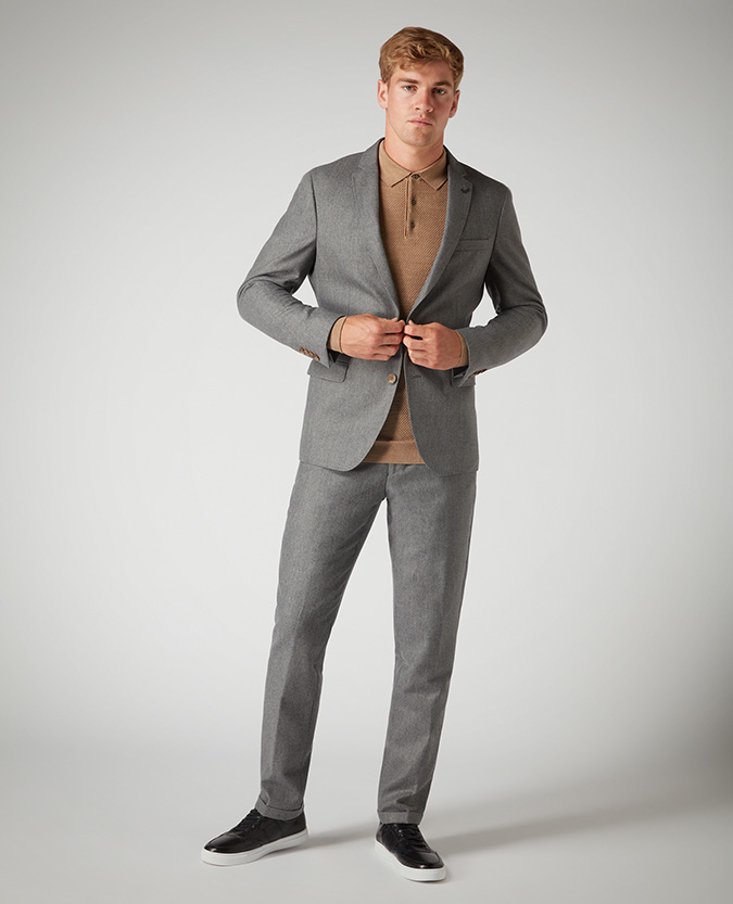Slim Leg Wool-Rich Formal Trousers