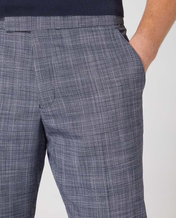 X-Slim Leg Checked Stretch Trouser