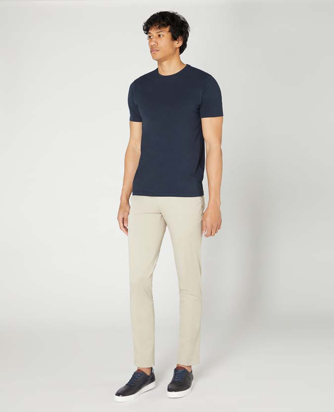 Slim Leg Formal Cotton Stretch Chino