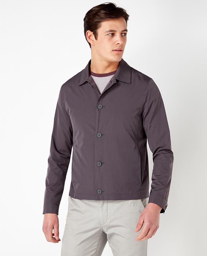 Slim Fit Lightweight Casual Overshirt