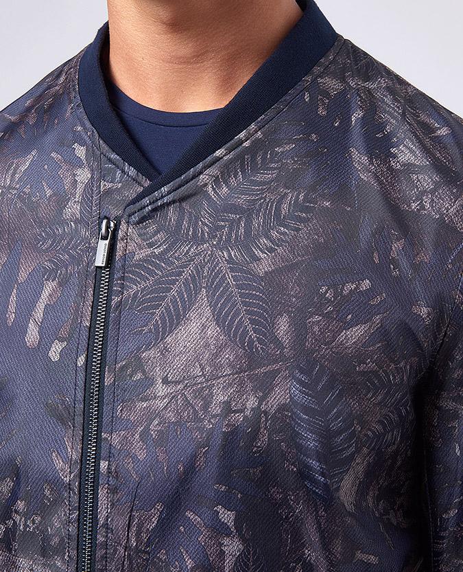 Tapered Fit Printed Kimono Jacket