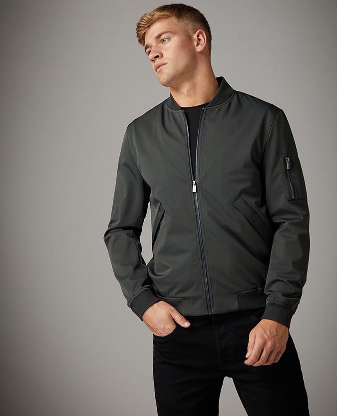 Slim Fit Bomber Jacket