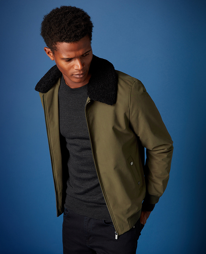 Tapered Fit Flight Jacket