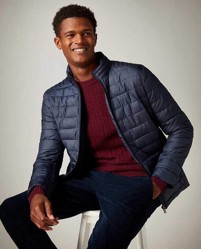 Tapered Fit Quilted Casual Coat