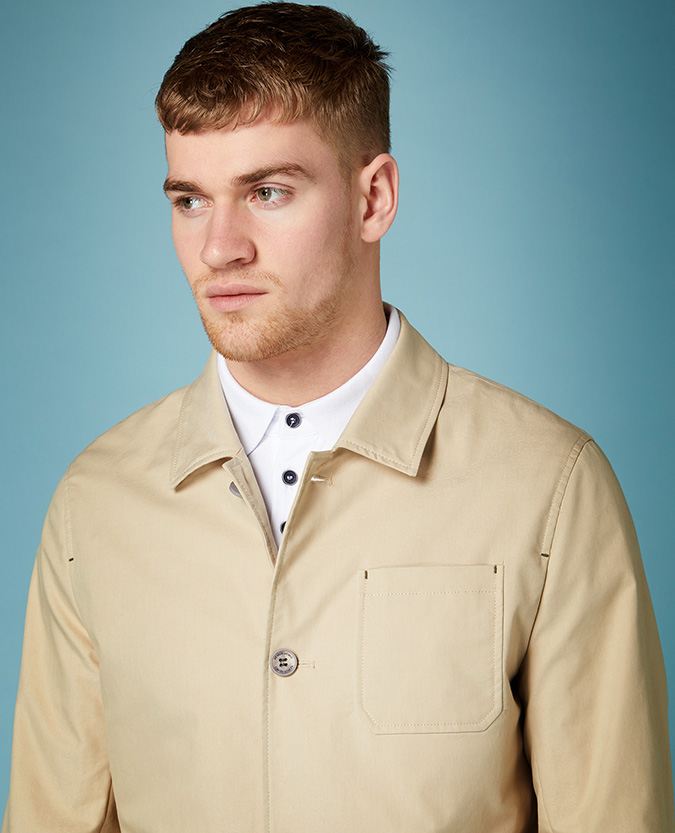 Tapered Fit Casual Jacket