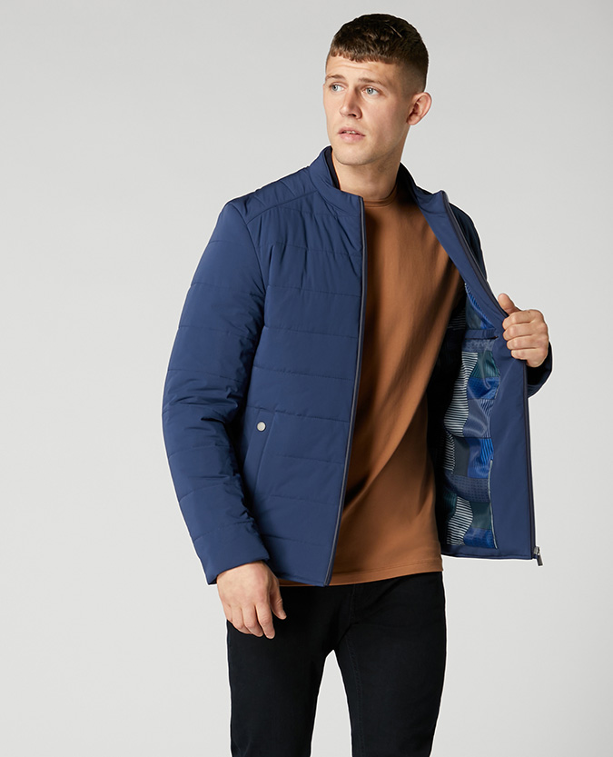 Slim Fit Quilted Casual Coat