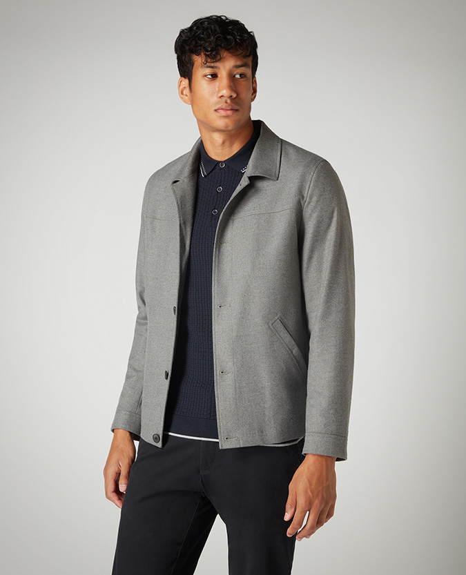 Tapered Fit Casual Coat