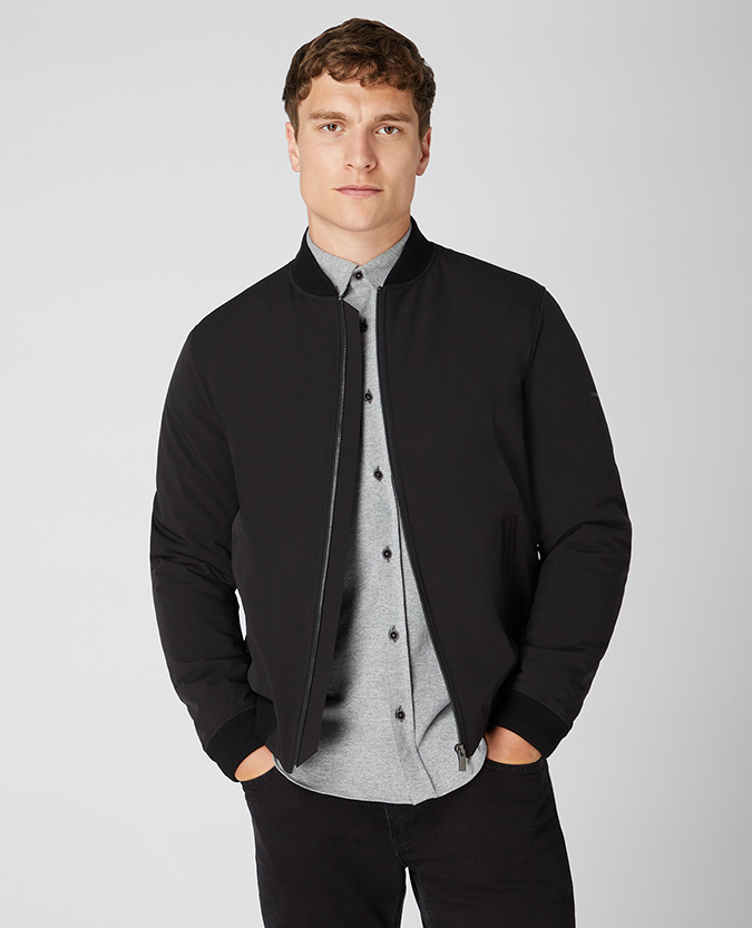 Tapered Fit Bomber Jacket