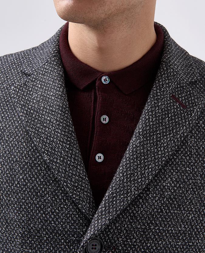 Slim Fit Wool-Blend Overcoat