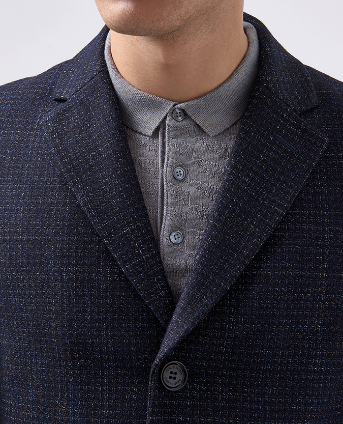 Slim Fit Wool-Rich Overcoat