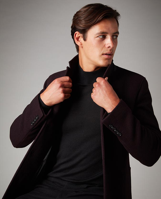 Slim Fit Wool-Rich Overcoat