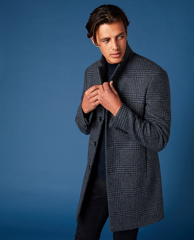 Slim Fit Pure Wool Overcoat