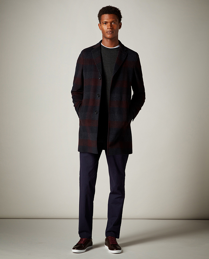 Slim Fit Wool-Mix Overcoat