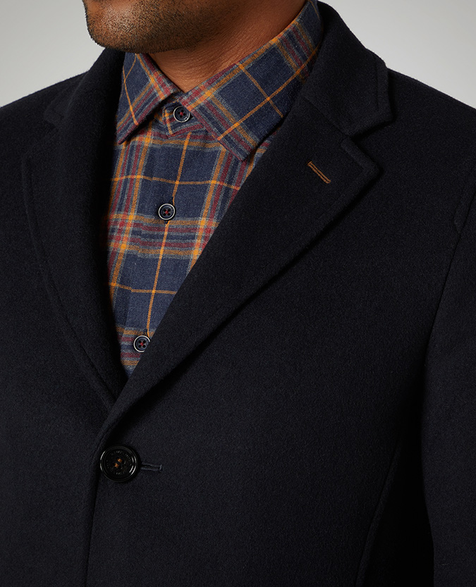 Slim Fit Wool-Mix Overcoat