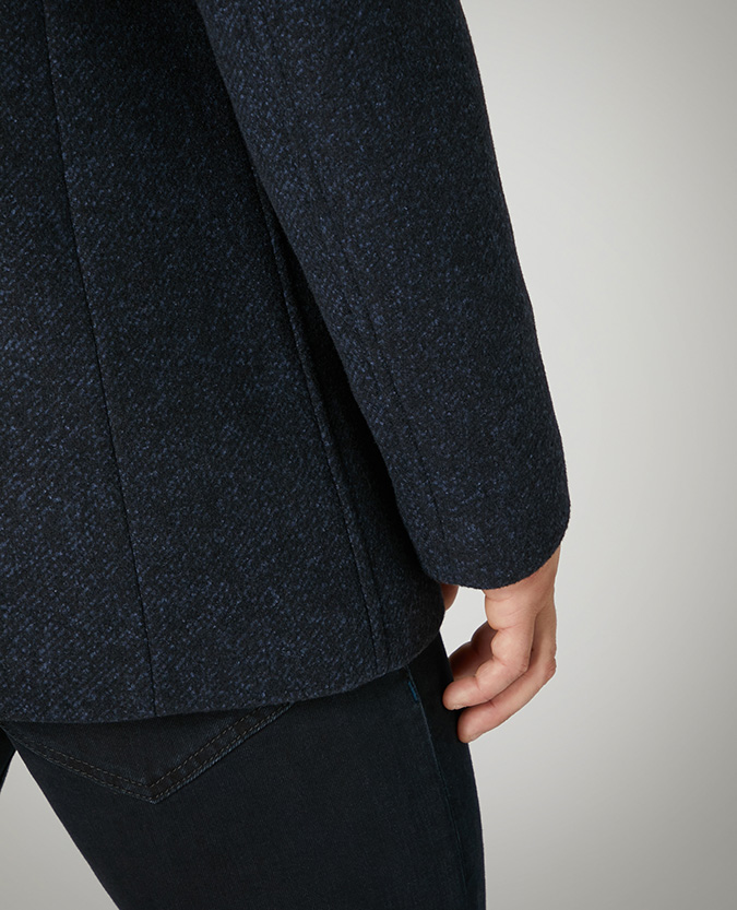 Tapered Fit Wool-Mix Overcoat