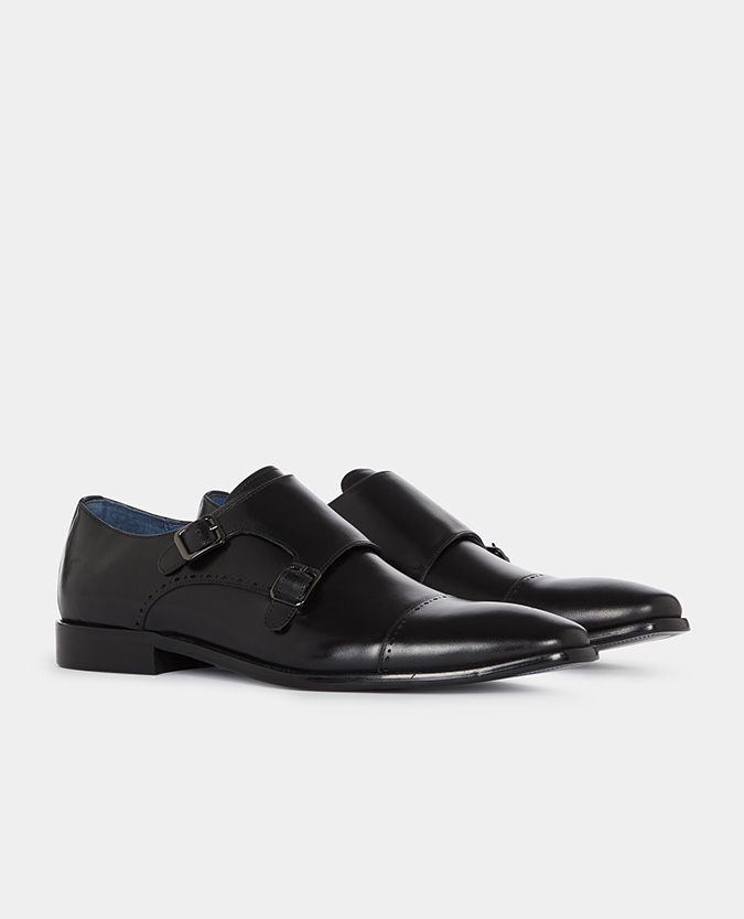 Leather Monk Strap Brogue
