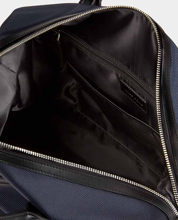 Leather-Trimmed Weekend Bag